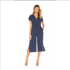 Cloth and Stone cap sleeve wide leg crop jumpsuit